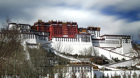 dalai: Potala Palace in Lhasa, Tibet, China