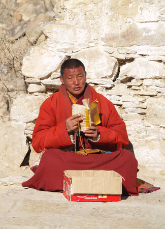god box: Monk, Lhasa, Tibet