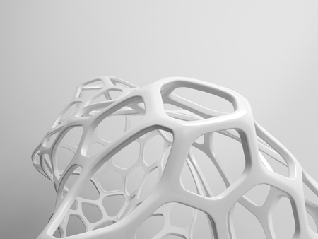 3d rendering of modern abstract grid structure photo