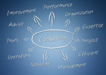 consultancy: Modern abstract concept illustration with arrows - CONSULTING