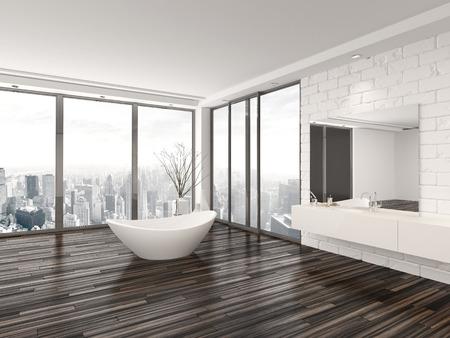 Bagno Moderno Con Vasca Da Incasso : Arredo bagno moderni con angolo vasca design angolare da