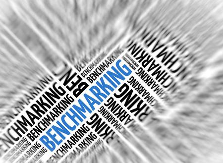 benchmarking: Marketing background - BENCHMARKING - blur and focus