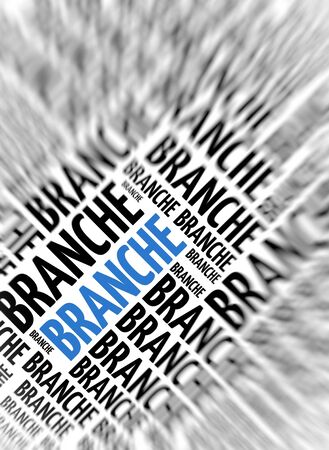German marketing background - Branche (branch) - blur and focus