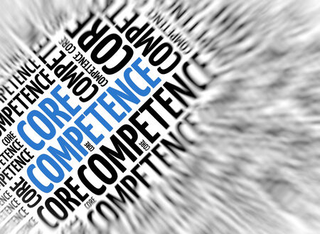 competence: Marketing background - Core Competence - blur and focus Stock Photo