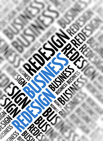 redesign: Marketing background - Business Redesign- blur and focus