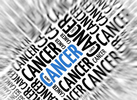 neoplasm: Marketing background - Cancer - blur and focus Stock Photo