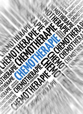 German marketing background - Chemotherapie (Chemotherapy) - blur and focus photo