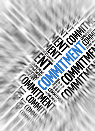 undertaking: Marketing background - Commitment - blur and focus Stock Photo