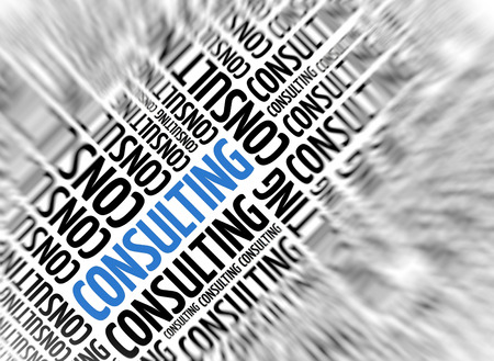 specialised: Marketing background - Consulting - blur and focus