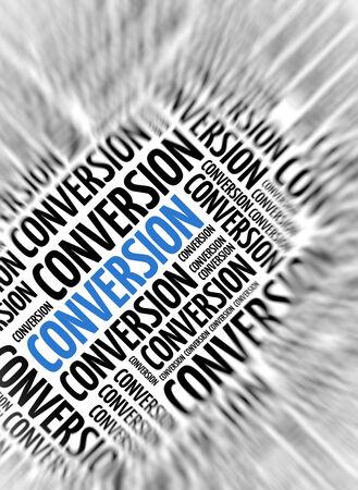 convert: Marketing background - Conversion - blur and focus
