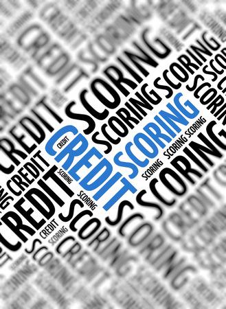 creditworthiness: Marketing background - Credit Scoring - blur and focus