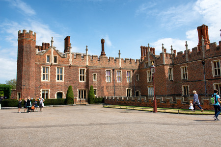 gatehouse: West Front & Main Entrance of Hampton Court Palace near London