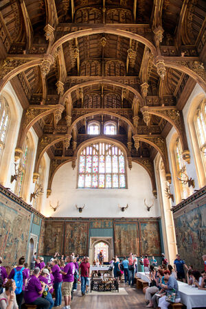 tudor: Roof of the Tudor Great Hall at Hampton Court Palace