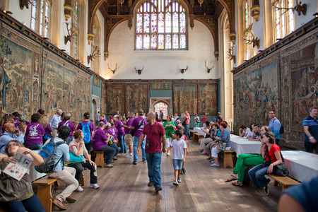 great hall: The Tudor Great Hall at Hampton Court Palace Editorial