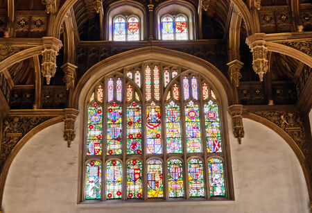 great hall: Window at the Tudor Great Hall at Hampton Court Palace