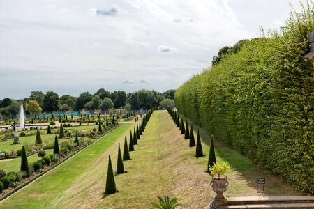 privy: The Privy Garden at Hampton Court Palace near London Editorial