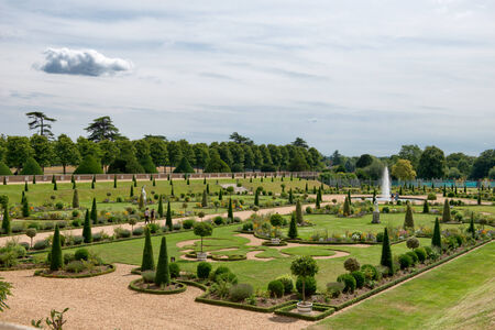 regal: The Privy Garden at Hampton Court Palace near London Editorial