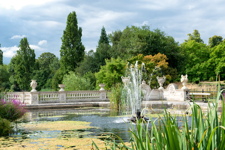 hyde: The Italian Gardens at Hyde Park in London, UK