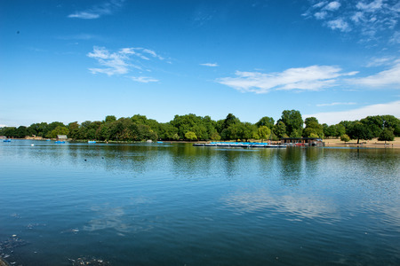 hyde: The Serpentine Lake at Hyde Park in London, UK