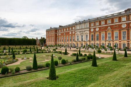 privy: The Privy Garden and Hampton Court Palace near London, UK Editorial