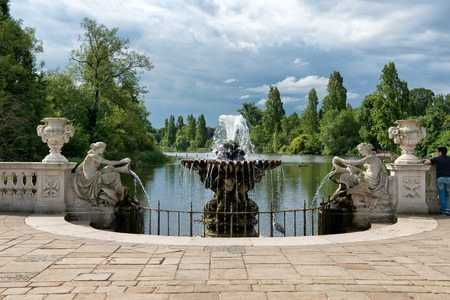 woodland sculpture: The Italian Gardens at Hyde Park in London, UK