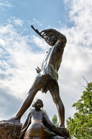barrie: The Peter Pan Statue at Hyde Park in London, UK