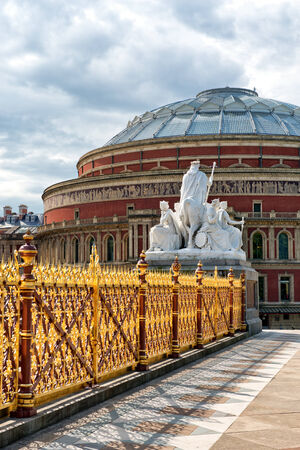 Royal Albert Hall as seen from Kensington Gardens in London