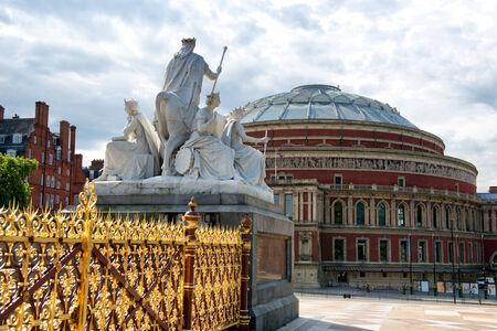Royal Albert Hall as seen from Kensington Gardens in London