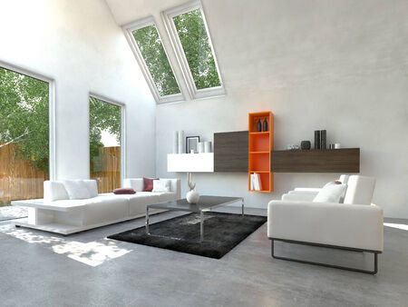 room accents: Beautiful White Inspired Front Room. Di solito questa zona � per la famiglia e gli ospiti. Archivio Fotografico