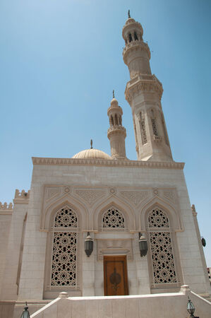 Intricately Designed Side Entrance to Aldahaar Mosque in Hurghada, Egypt photo