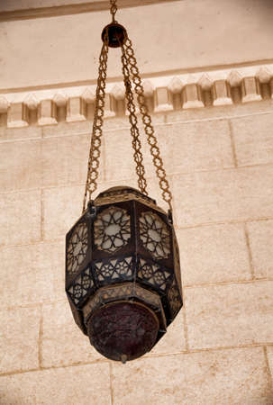 hurghada: Lantern Hanging at Aldahaar Mosque in Hurghada, Egypt