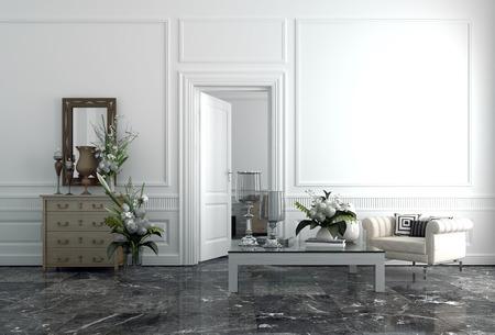 Interior of Modern Upscale Luxury Sitting Room in Home Archivio Fotografico