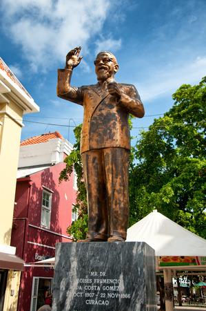 gomez: A bronze statue to Dr. Moises Frumencio Da Costa Gomez in Willemstad, Curacao, Netherland Antilles.