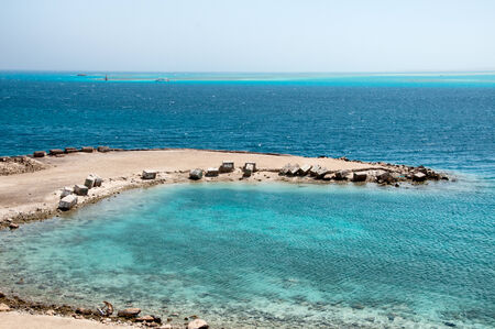 littoral: Jetty at Hurghada Coast with View of Red Sea, Egypt