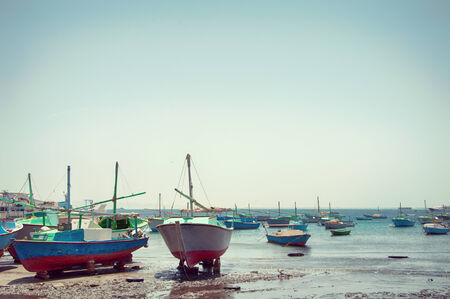fischerei: Segelboote in Hurghada Harbor, Ägypten Verankert