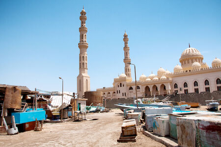 El Mina Mosque and Surrounding Street, Hurghada, Egypt