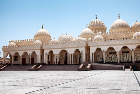Exterior of El Mina Masjid Mosque in Hurghada, Egypt photo
