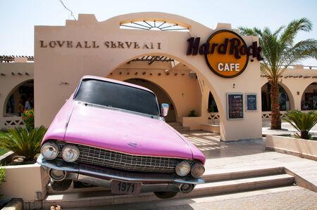 coachwork: Entrance to Hurghada Hard Rock Cafe in Egypt