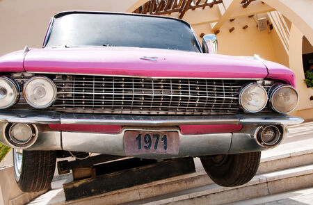 hard rock cafe: Grille of Classic Pink Cadillac in front of Hurghada Hard Rock Cafe in Egypt