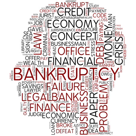 Word cloud - bankruptcy photo