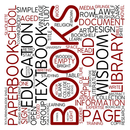 set goals: Word cloud - books Stock Photo
