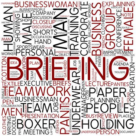 Word cloud - briefing photo
