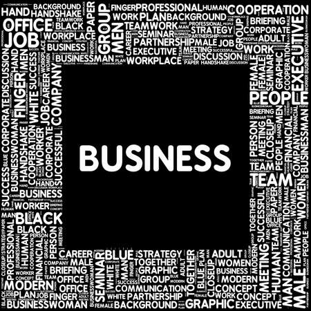 Tagcloud - Business photo