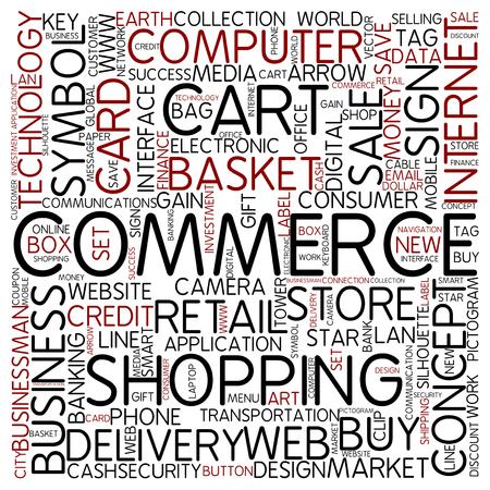 Word cloud - commerce photo