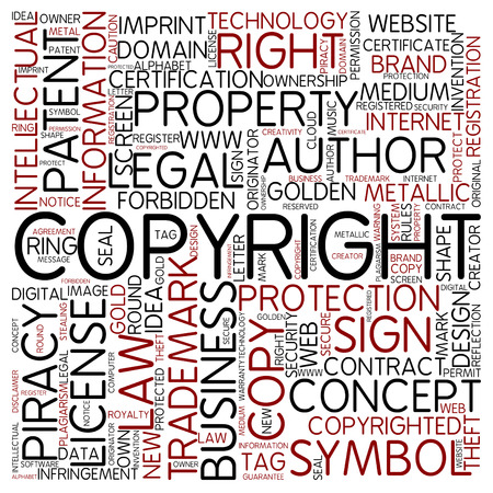 copyrighted: Word cloud - copyrighted