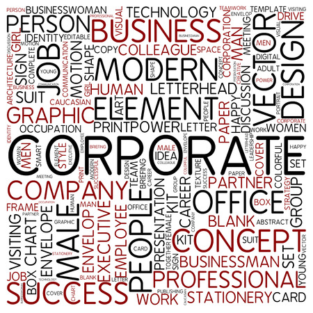 Word cloud - corporate photo