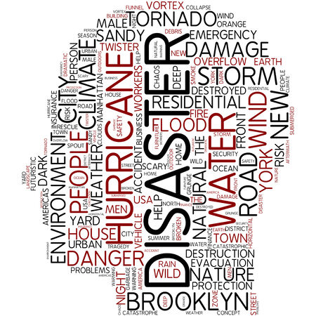 Word cloud - disaster photo