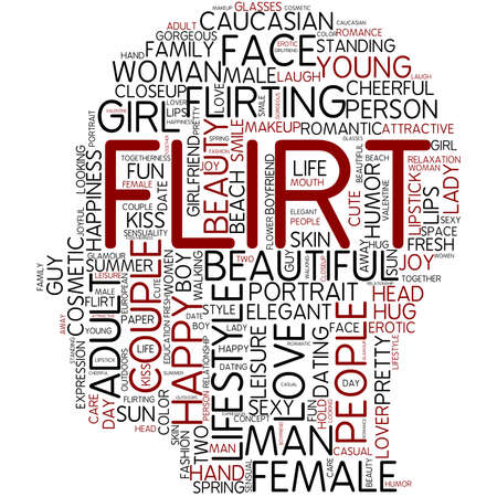 Word cloud - flirt photo