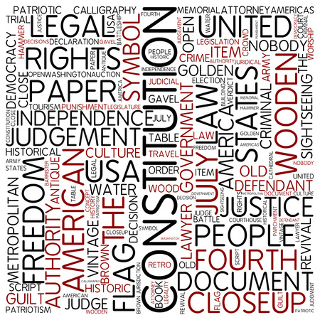 Word cloud - constitution photo