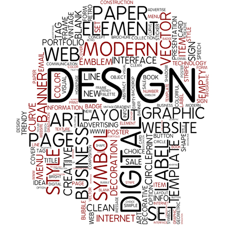 Word cloud - design photo
